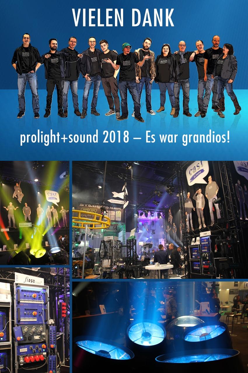 Prolight+Sound 2018 erfolgreich für cast