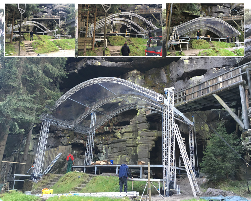 Bühnendach Felsenbühne